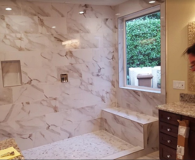 Bathroom Remodeled Accent Wall Modern Amenities Elk