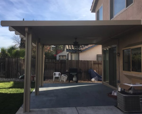 Diamond End Cap Flat Wood Attached Patio Cover Elk Grove Ca