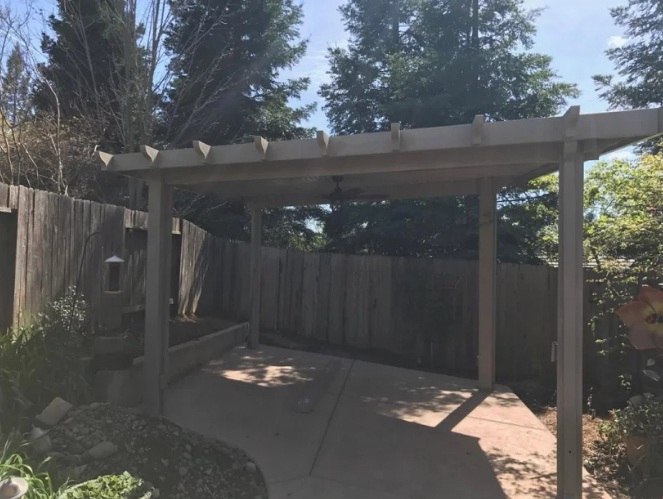 Free standing patio cover fair oaks ca for Free standing patio cover