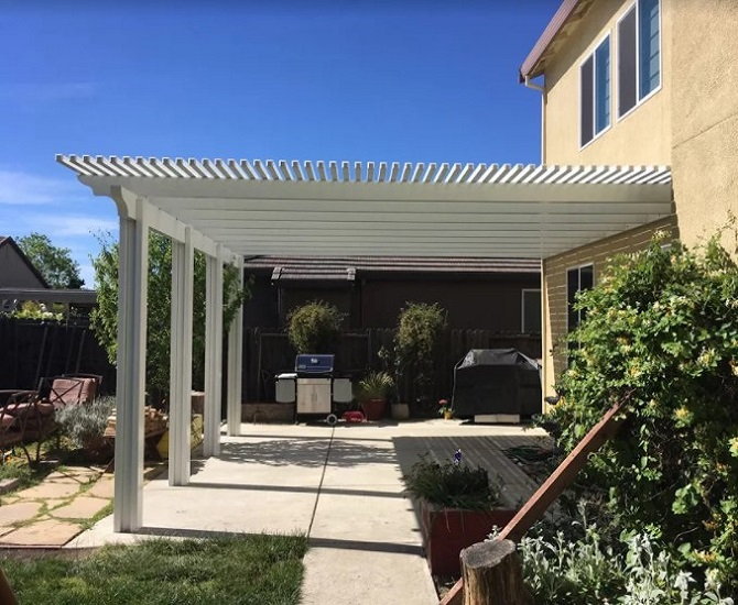 Durawood Patio Cover Woodland, CA. Before. Patio Cover Woodland ...