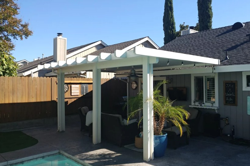 Charmant Patio Cover Roseville, CA