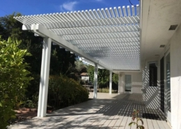 Patio Cover with Space on Post