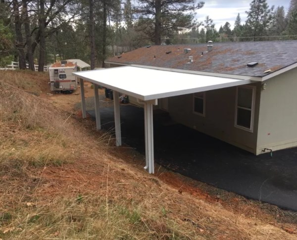 Wall Attached Patio Cover Project No 212 Grass Valley Ca