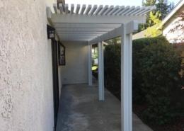 White Patio Cover Roseville, CA