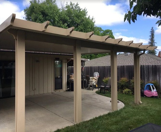 flatwood solid patio cover Carmichael, ca