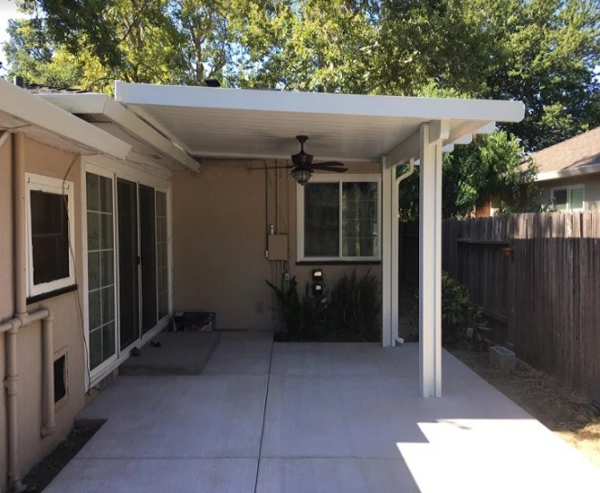 Roof Attached Mount Patio Cover Sacramento Ca