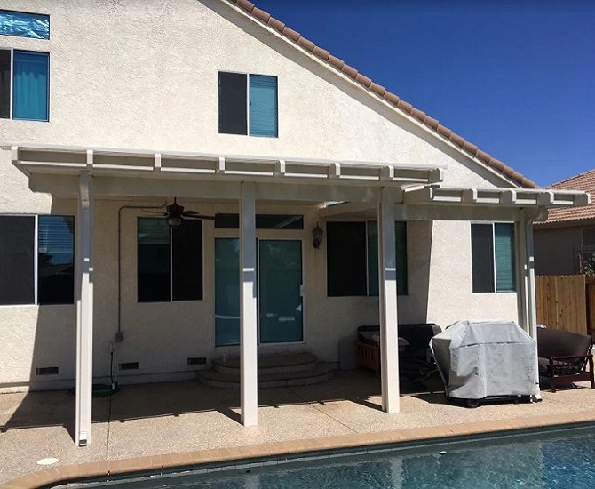 California Sand Color Durawood Patio Cover Vacaville Ca