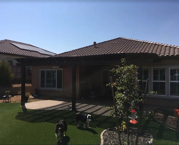 Mount Attached Under Eave Patio Cover Roseville Ca