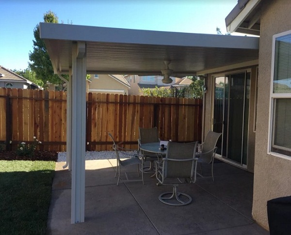 Under Eave Attached Patio Cover Roseville Ca