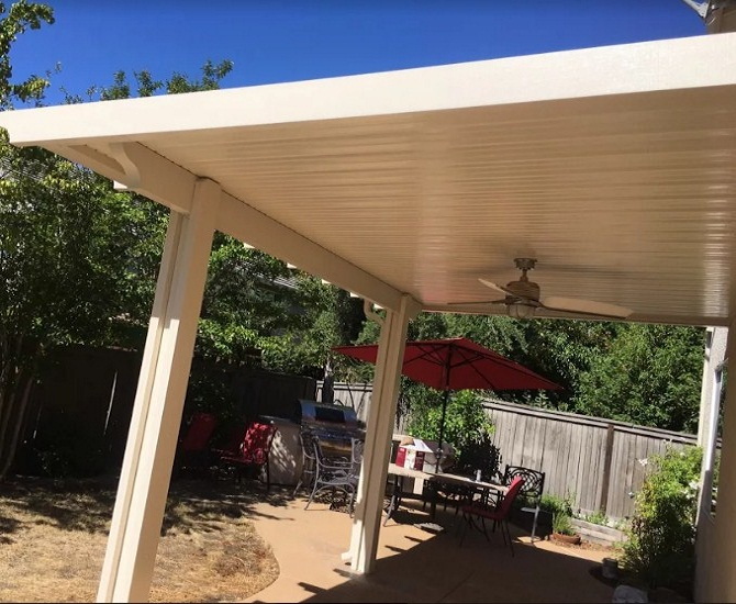 Flatwood Wall Attached Patio Cover Installation Roseville Ca
