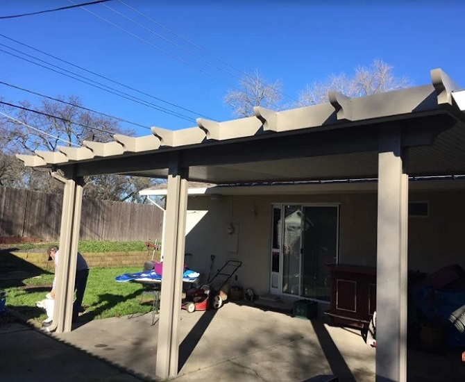 Roof Mount Attached Patio Cover Installation Orangevale Ca