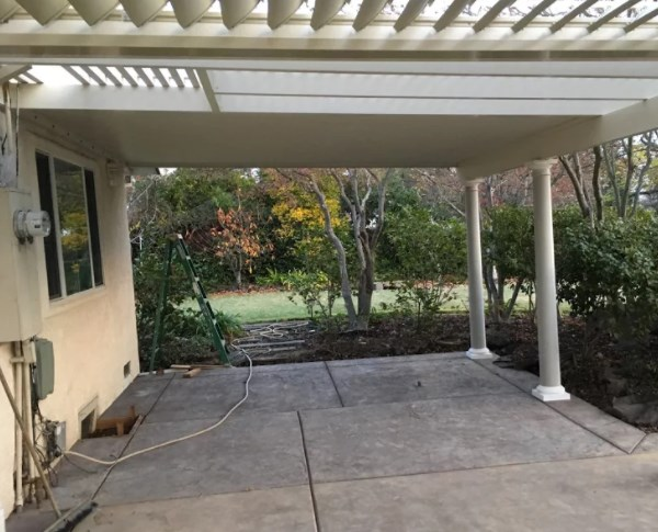 Wall Attached Patio Cover With Lattice Amp Scallop In